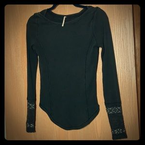 Free People S top charcoal gray like new